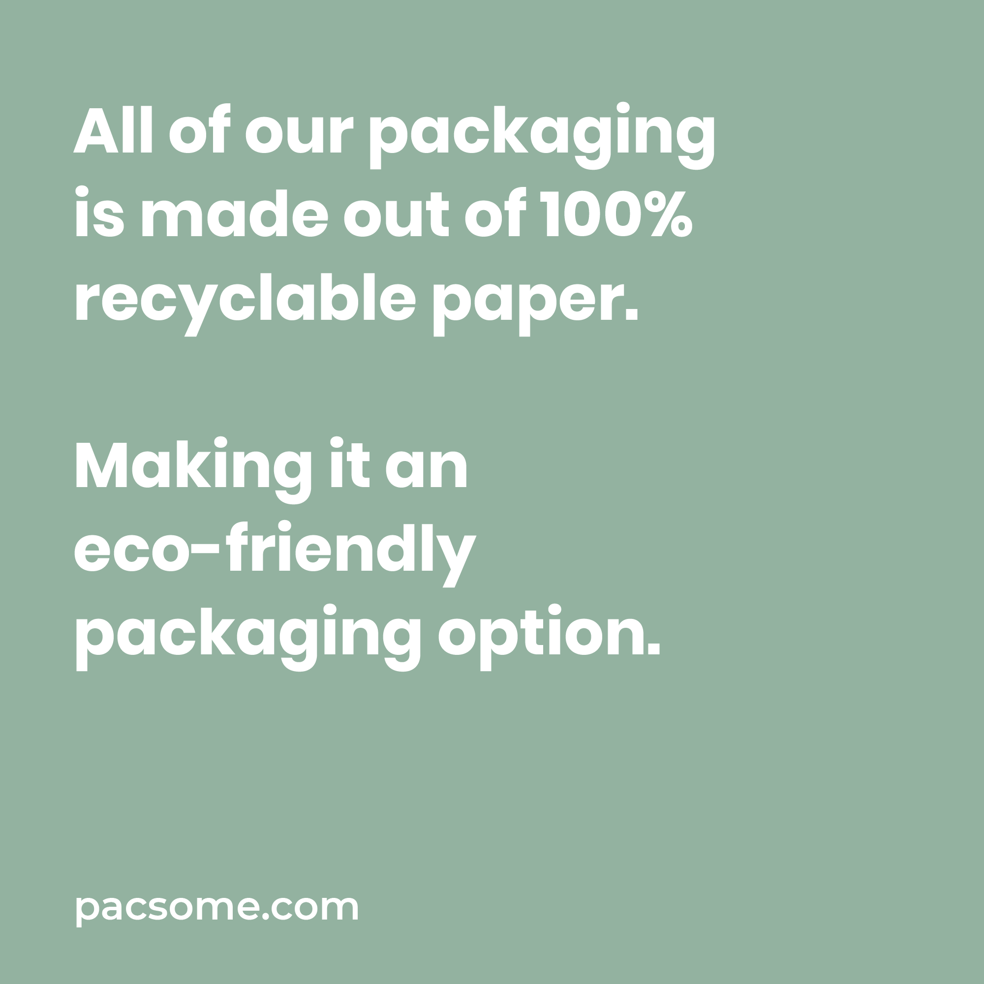 ecofriendly packaging option